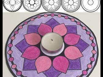 Diwali – Candle Display Mats