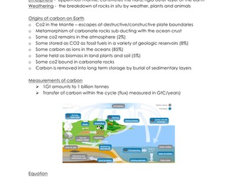NEW A-level geography - carbon cycle, physical geography revision