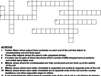 Mitosis crossword puzzle by sciencespot teaching resources tes ccuart Images