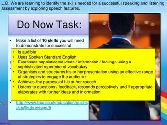 AQA GCSE - Speaking and Listening Endorsement