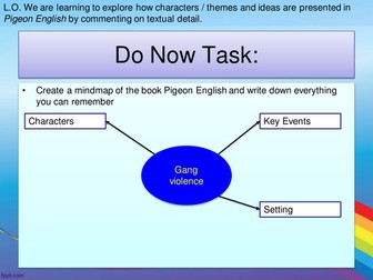 PIGEON ENGLISH - Revision before Final GCSE Exam