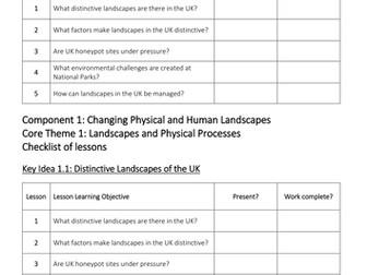 Theme 1: Landscapes and Physical Processes Key Idea 1.1 (Eduqas WJEC 9-1)