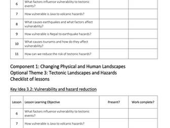 Theme 3: Tectonic Landscapes and Hazards Key Idea 3.2 (Eduqas WJEC 9-1)
