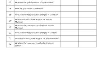Theme 2: Rural-urban Links Key Idea 2.3 (Eduqas WJEC 9-1)