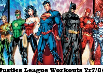 Yr7/8/9 Justice League Workout at Home Booklet