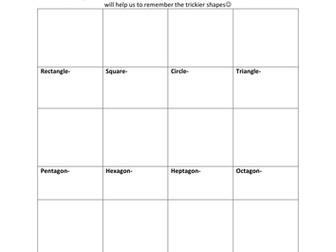 2D Shape homework challenge
