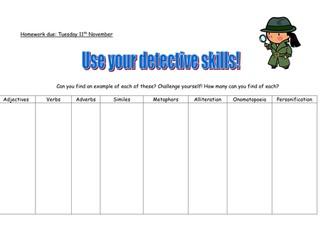SPAG Detectives Homework!