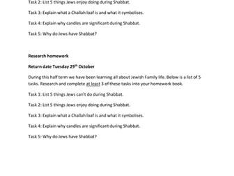 Judaism Homework
