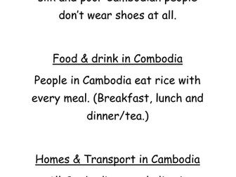 Geography - South East Asia Statements.