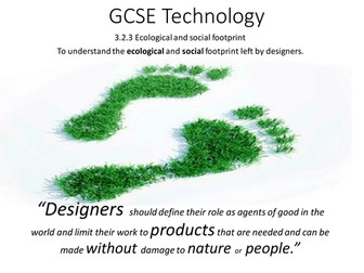 Specialist technical principles: ecological and social footprint