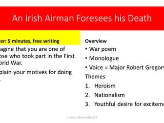 an irish airman foresees his death analysis essay
