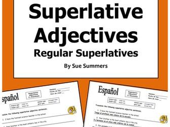Spanish Superlative Adjectives Sentence Translations
