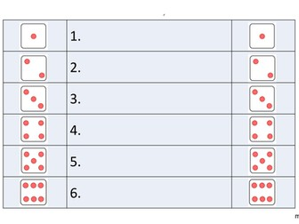 Plenary dice-rolling pairwork