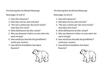 Reading tasks-The Dancing Bear by Michael Morpurgo