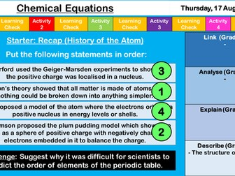 Aqa the periodic table and atomic structure bundle 11 lessons by chemical equations new aqa gcse chemistry urtaz Image collections