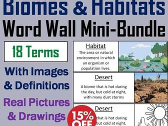 Ecosystems Word Wall: Biomes and Habitats