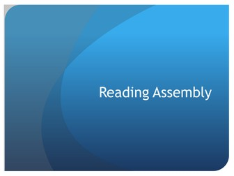 Assembly on Reading (Importance, Benefits, Enjoyment)