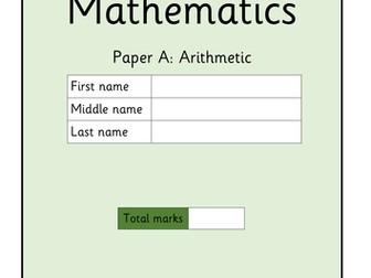KS1 Practice Arithmetic Paper A