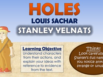character analysis of stanley yelnats in holes by louis sachar Stanley yelnats iv stanley, the protagonist of holes, is a dynamic character he changes during the course of the novel due to the influence and effect of his e.