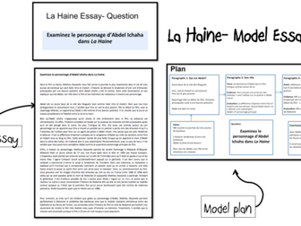 La Haine- Model Essays (2)- A Level French-(lot5)