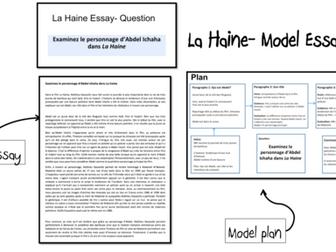 La Haine- Model Essays (2)- A Level French-(lot5)