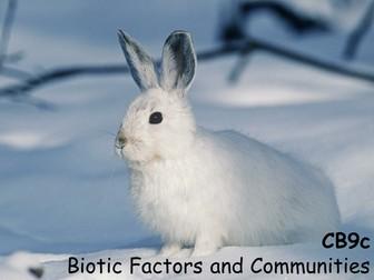 Edexcel CB9c Biotic Factors and Communities