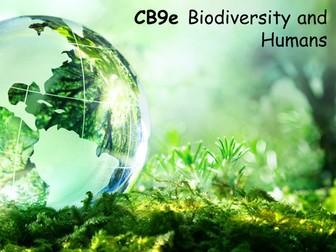 Edexcel CB9e Biodiversity and Humans