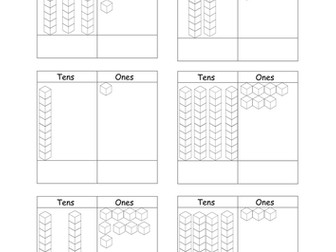 Place Value Dienes Tens and Ones