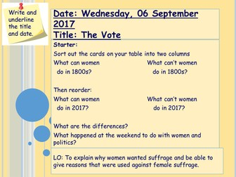 Introduction to the Vote for Women
