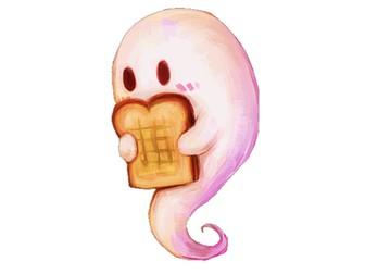 Halloween Fun Toasty Ghosty