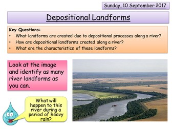 Depositional Landforms - Rivers