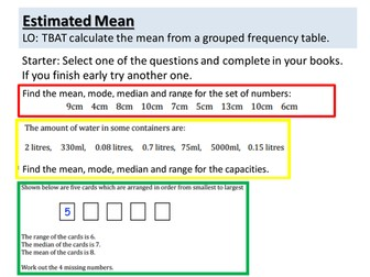 Estimated Mean Observed Lesson