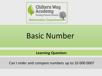 Ordering and Comparing Large numbers