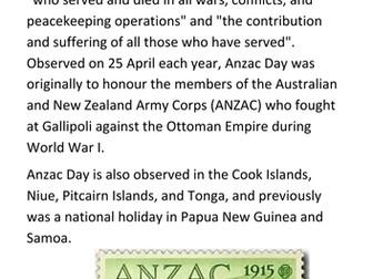 ANZAC Day Handout
