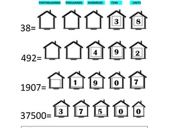 Let's place the digits into their home-Place values