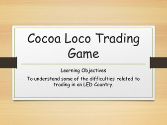SEN Geography/PSHCE/Fair Trade