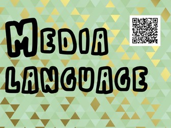 Media Language poster with key term memrise link