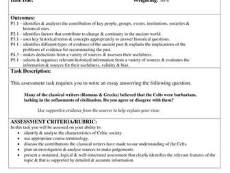 Celtic Society Assessment Task