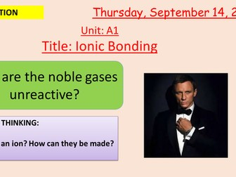 Pearson BTEC New specification-Applied science-Unit 1-Ionic bonding