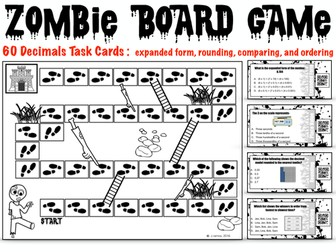 Place Value, Compare, Order, and Round Decimals Board Game
