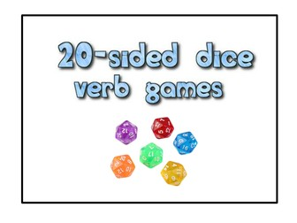 Spanish Alevel - 20 & 6 sided dice verb games