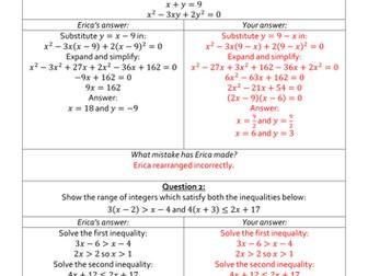 Erica's Errors - AS/A Level Maths (Year 1) Bundle