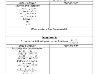 Erica's Errors On Algebraic Methods 2