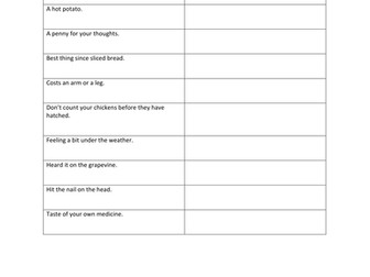 Idioms Quiz