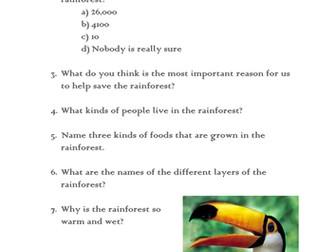 Rainforest quiz