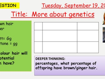 AQA new specification-More about genetics-B13.8