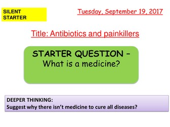 AQA new specification-Antibiotics and painkillers-B6.2