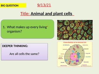 AQA new specification-Animal and plant cells-B1.2