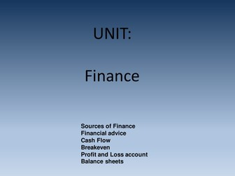 Finance in Business