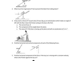 Forces in equilibrium worksheet pdf